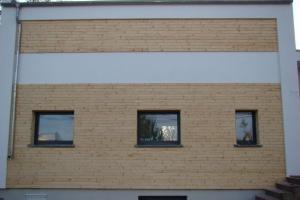 Elewacja z desek świerkowych skandynawskich, model profilu rombus