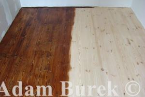 Nowe deski sosnowe   układanie olejowanie   Stary Młyn Lednogóra